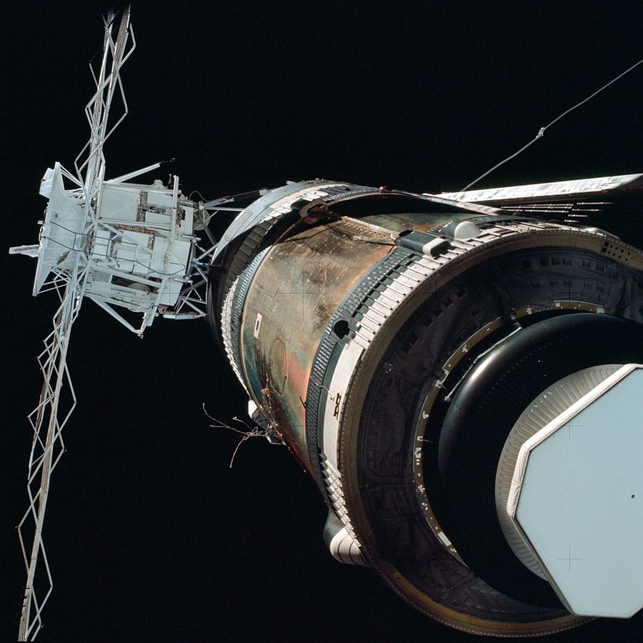 Skylab damages as viewed by Skylab 2
